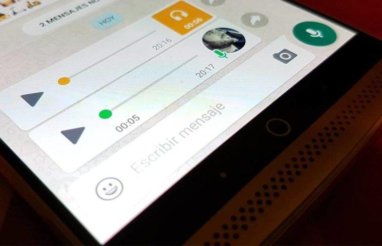 Whatsapp notas de voz a tecto